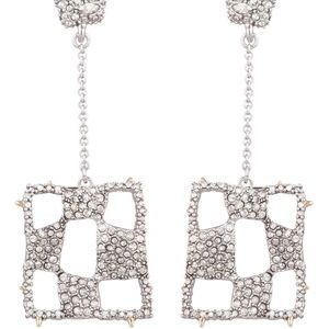 🆕Alexis Bittar Checkerboard Drop Chain Earrings